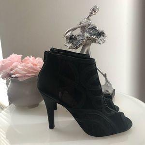 Lane Bryant  Black Lace Bootie Size 11W